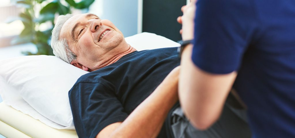 happy male patient at copthall health